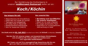 Koch/Köchin - Hotel Zur Goldenen Sonne