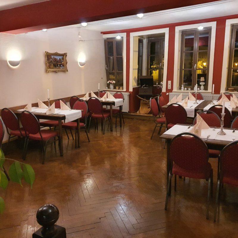 Restaurant im Hotel Zur Goldenen Sonne in der UNESCO Welterbestadt Quedlinburg